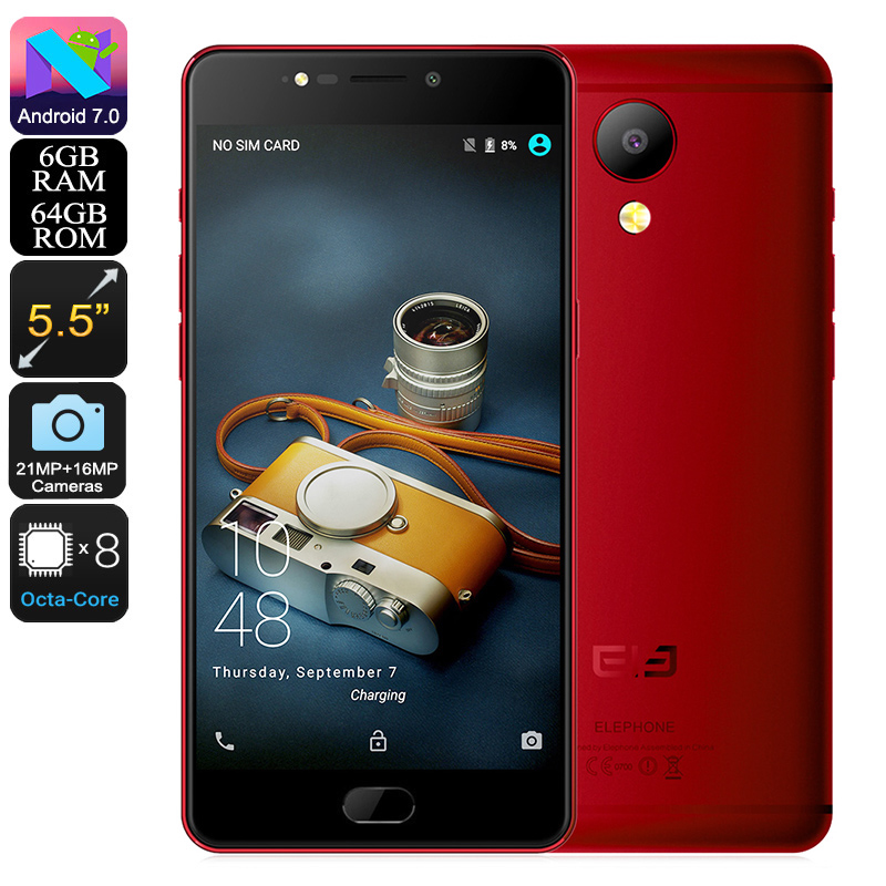 Elephone P8 Android Phone (Red)