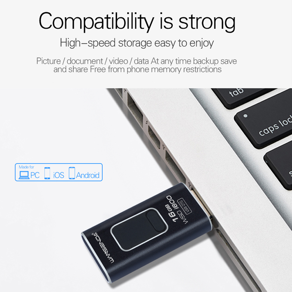 4 in 1 Micro USB Stick OTG Pen Drive Black_8G