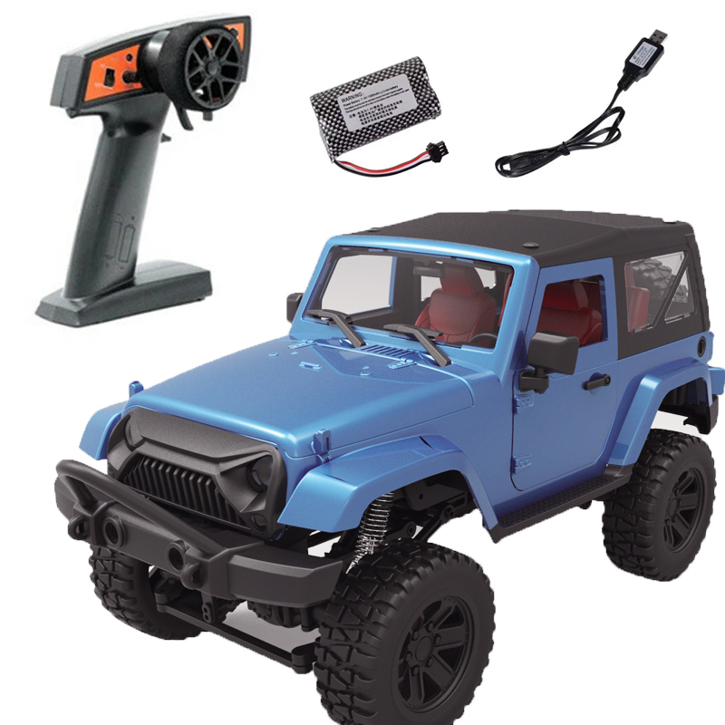 For Rbrc 1:14 Wrangler RC Car Model Toy Simulate 2.4g Four-wheel Drive Car RB-F1 (blue hard top)