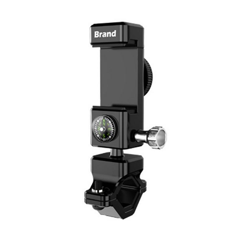 Adjustable Bicycle Phone Holder GPS Bike Phone Stand Bracket for 3.0-6.5 inch Smartphone   black