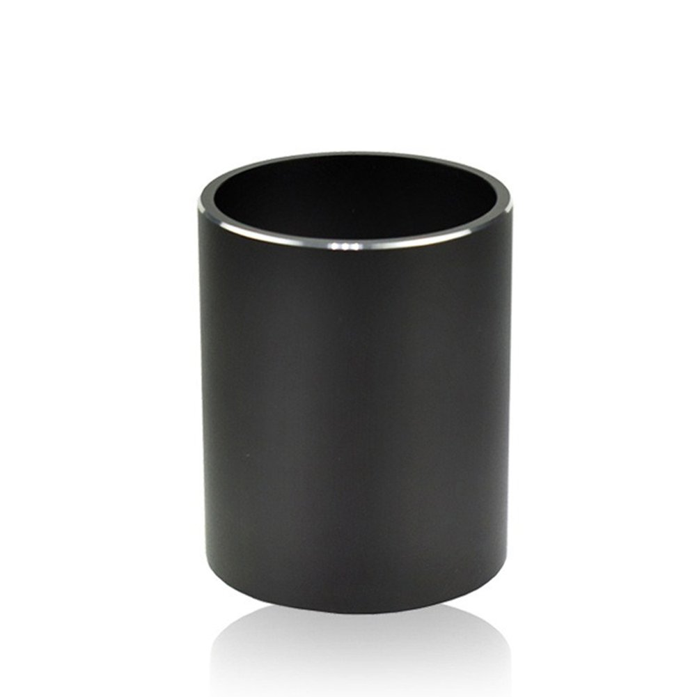 Round Aluminum Alloy Pen Container Pencil Holder Case Organizer Home Office Decoration Stationery Gift  Black