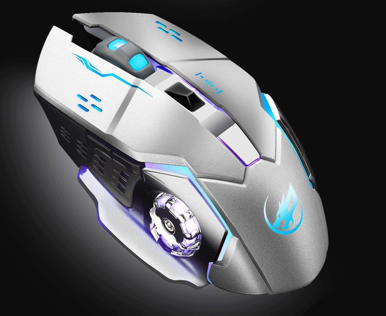 Warwolf Q8 Wireless Rechargeable Mouse Silver