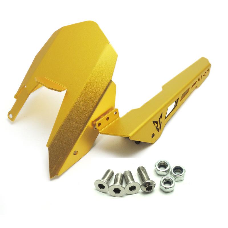 Motorycle Chain Guard Cover CNC Aluminum Rear Tire Hugger Mudguard for YAMAHA MT-07 FZ07 13-17 Gold