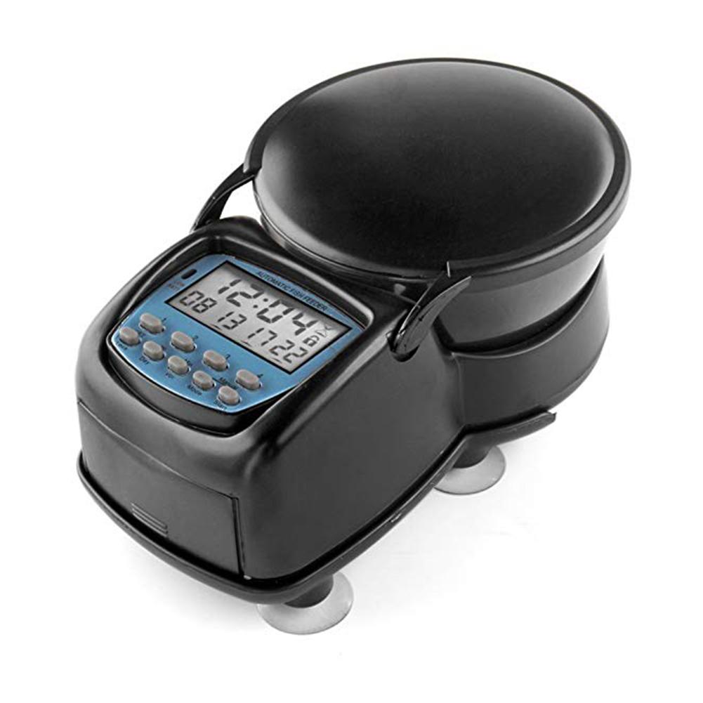 Intelligent Automatic Timing Pet Feeder Feeding Machine for Aquarium Fish Bowl black_L