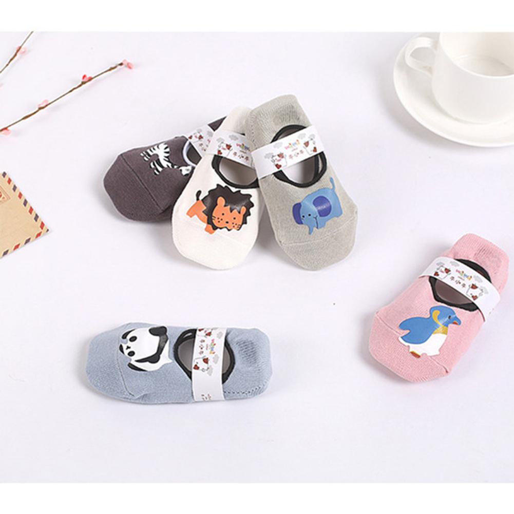 Kids Cute Cartoon Pattern Nonslip Boat Socks Toddler Socks MOQ:5 pairs Stick figure_ [S : 10-12]