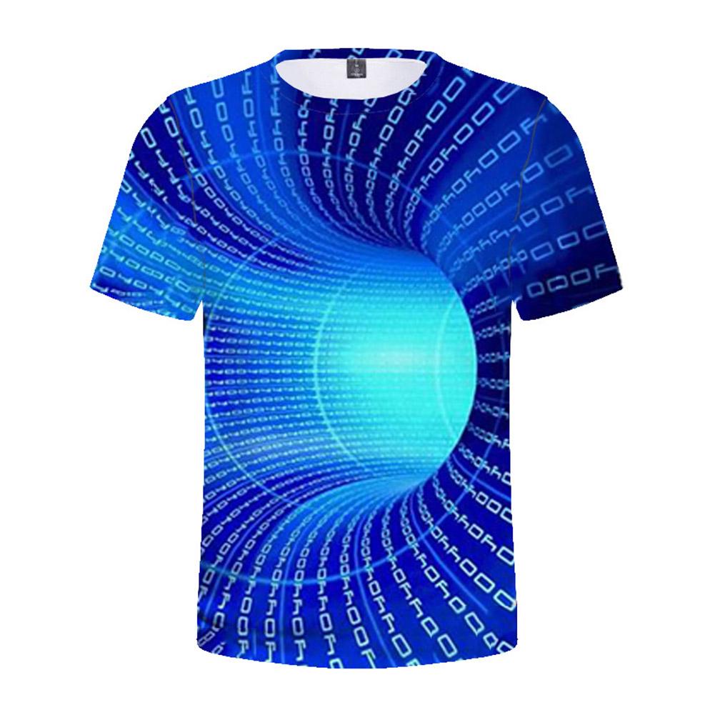 Children's T-shirt 3D digital color printing  short-sleeved top for 5-12 years old kids 8010_160cm