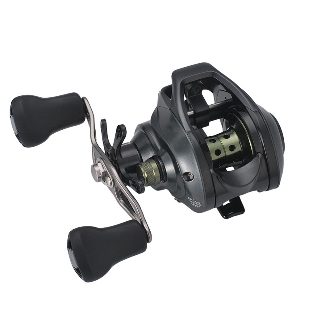 Baitcasting Reel 19+17.1 Full Metal Wire Cup Explosion-proof Raft Fishing Magnetic Brake Left Right Hand Wheel Right hand