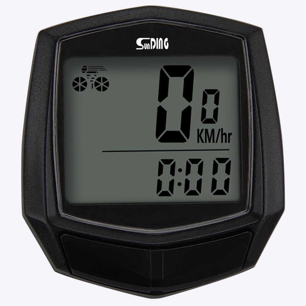 Bike Wired Stopwatch Bicycle Multifunction Computer Speedometer Odometer Sensor black