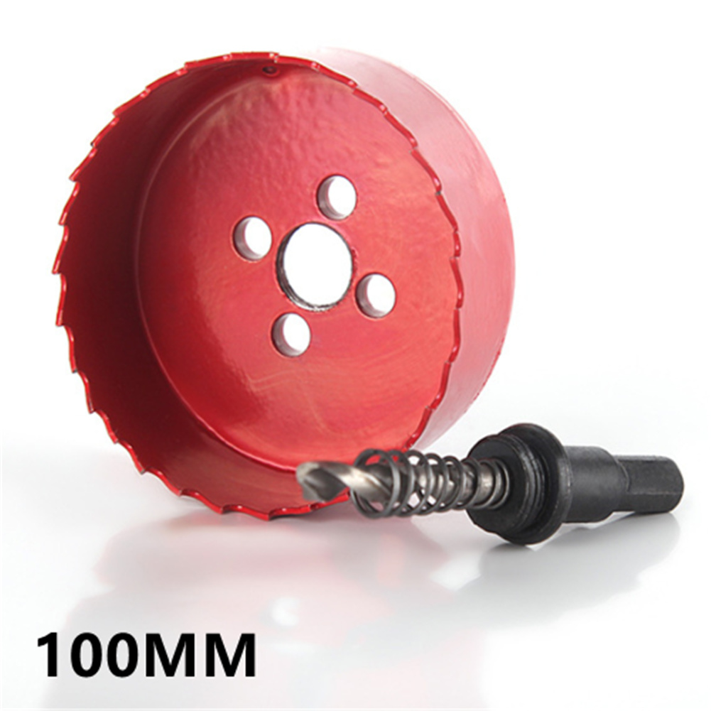 4/6inch Hole  Saw  Blade BI  Metal Speed Slot Corn Hole Boards Drilling Cutter Tool 4inch(100mm)