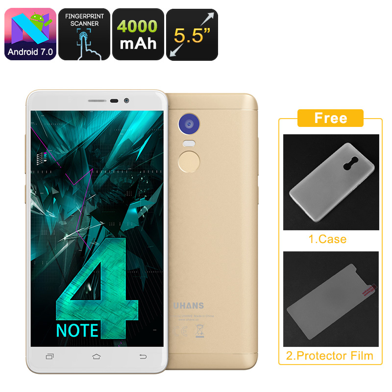 Uhans Note 4 Android Smartphone (Gold)