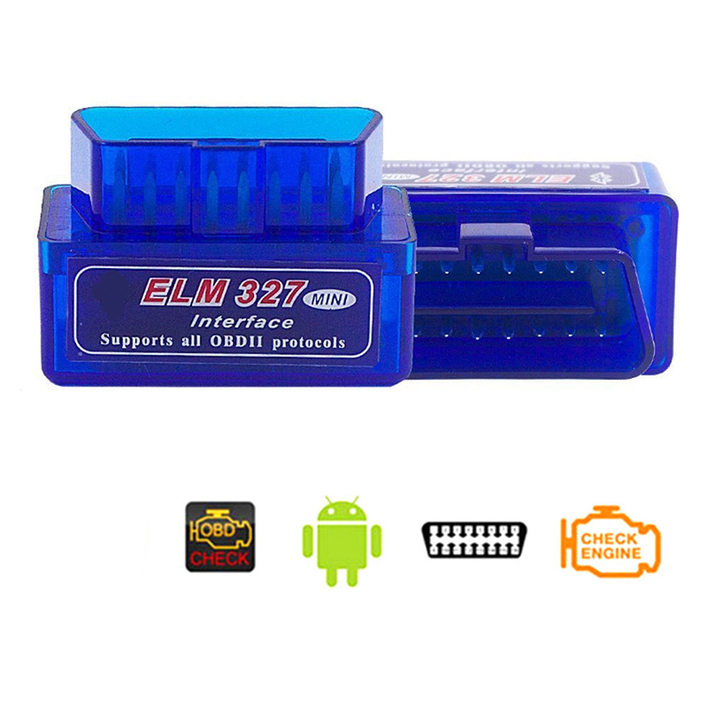 [Indonesia Direct] Super Mini ELM327 Bluetooth V2.1 OBD2 Wireless Car Diagnostic Scanner Universal OBD II Auto Scan Tool Work On Android A-L02BJ-L