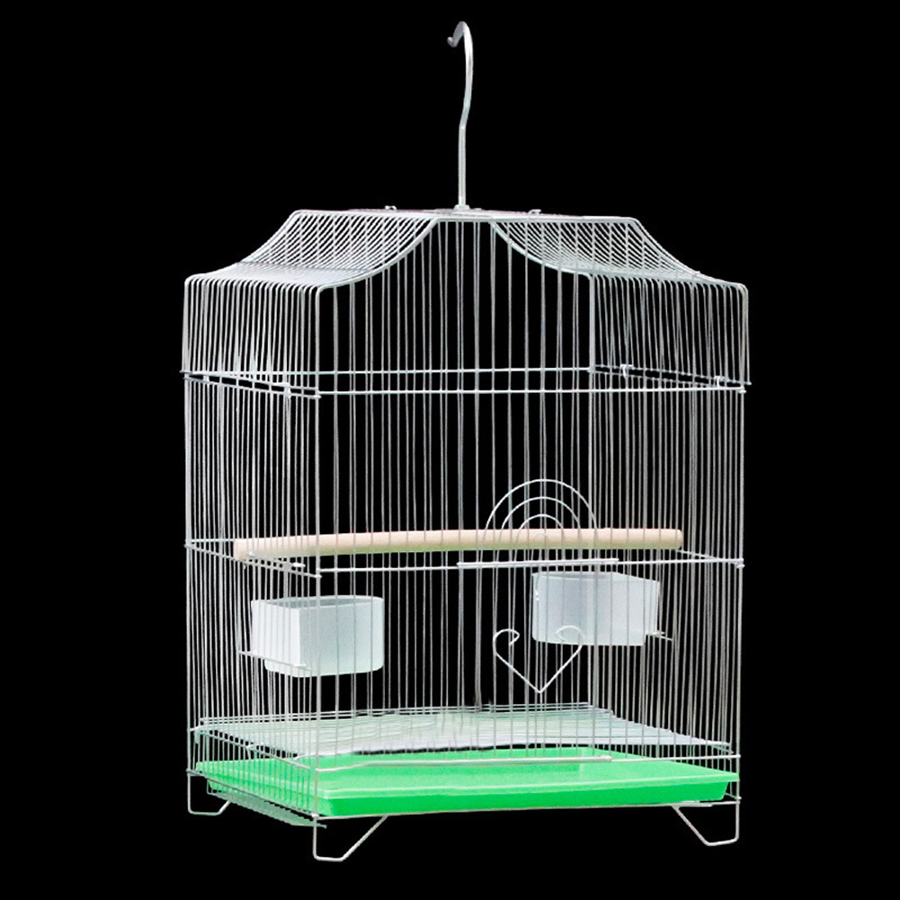 Electroplating Steel Bird Nest Cage for Leiothrix Parrot Crested Myna As shown