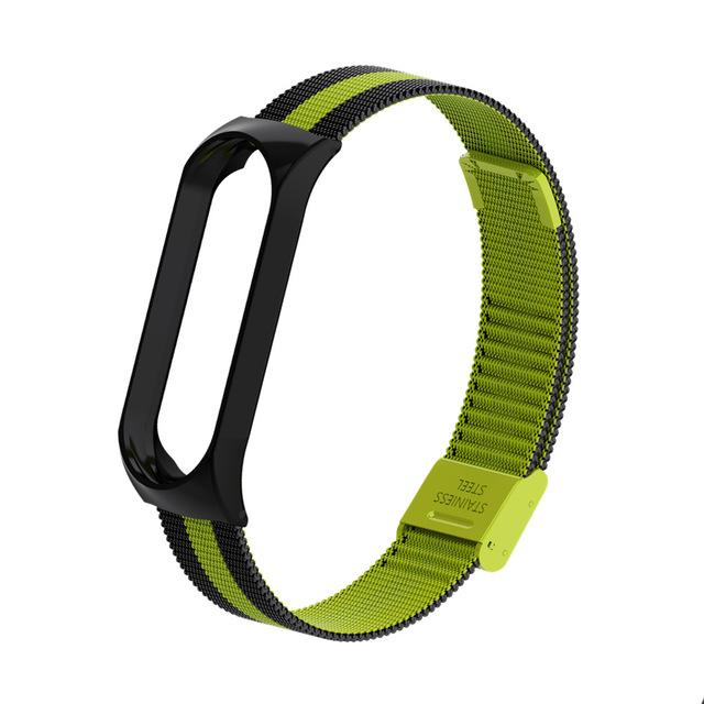 Mi Band 3 Wrist Strap Metal Screwless Stainless Steel for Xiaomi Mi Band 3 Strap Bracelet Miband 3 Wristbands Pulseira Miband3 Black green