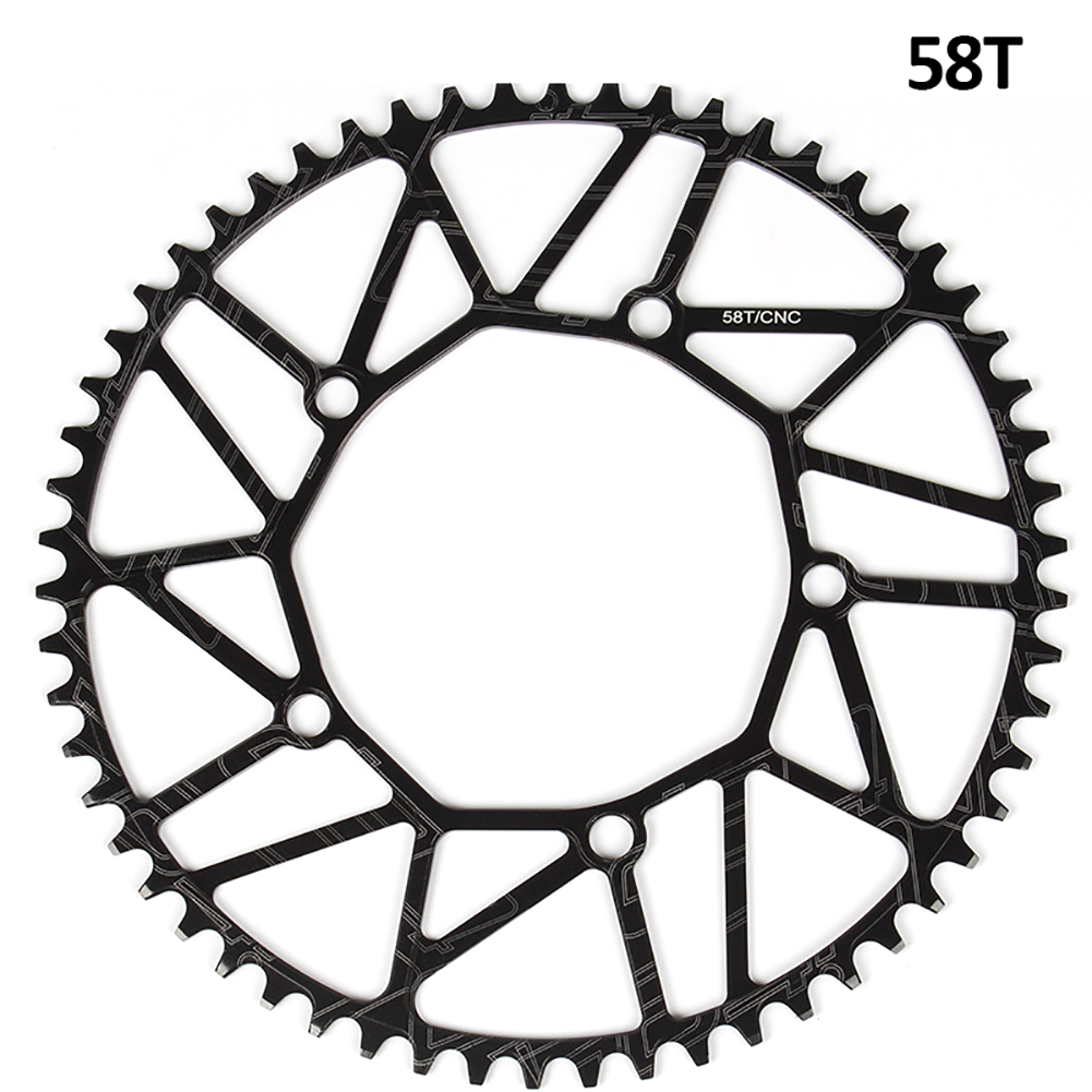 [Indonesia Direct] Litepro Bicycle Ultra-light Chain Wheel 8/9/10/11 Speed Aluminium Alloy Chainwheel Positive and negative tooth single disc 58T