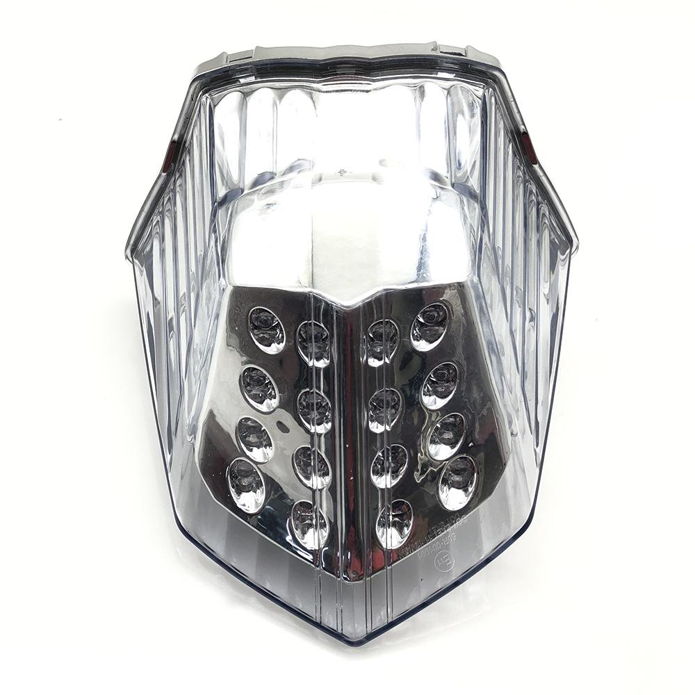 Motorcycle Modified Led Turn Signal Rear Warning Tail Light Brake Light For Yamaha XJ6 FZ6R Transparent shell
