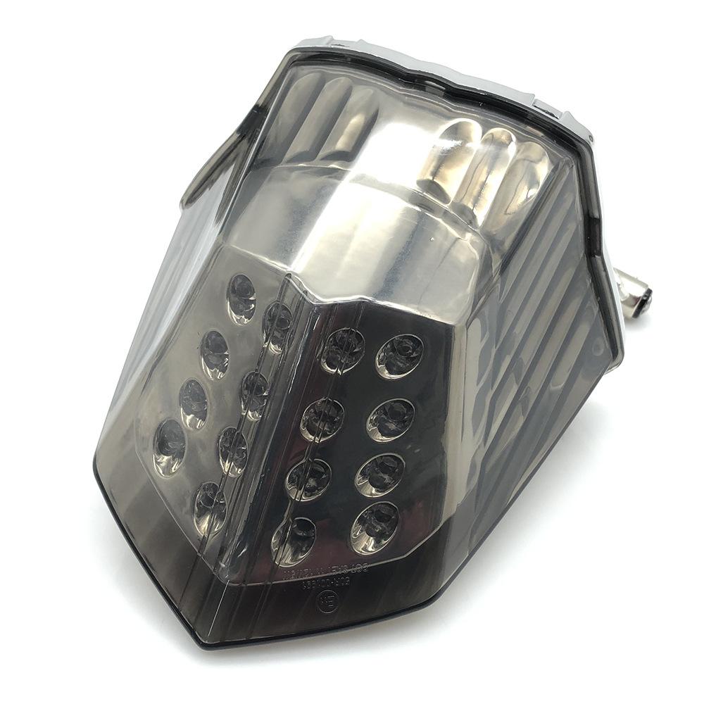 Motorcycle Modified Led Turn Signal Rear Warning Tail Light Brake Light For Yamaha XJ6 FZ6R Blackened shell
