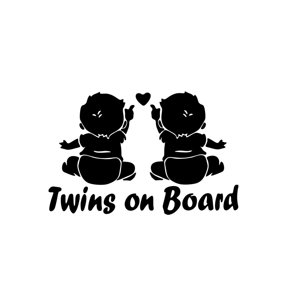 Funny Car Stickers Baby On Board Auto Decor Sticker Warning Safety Car-Styling Decals black