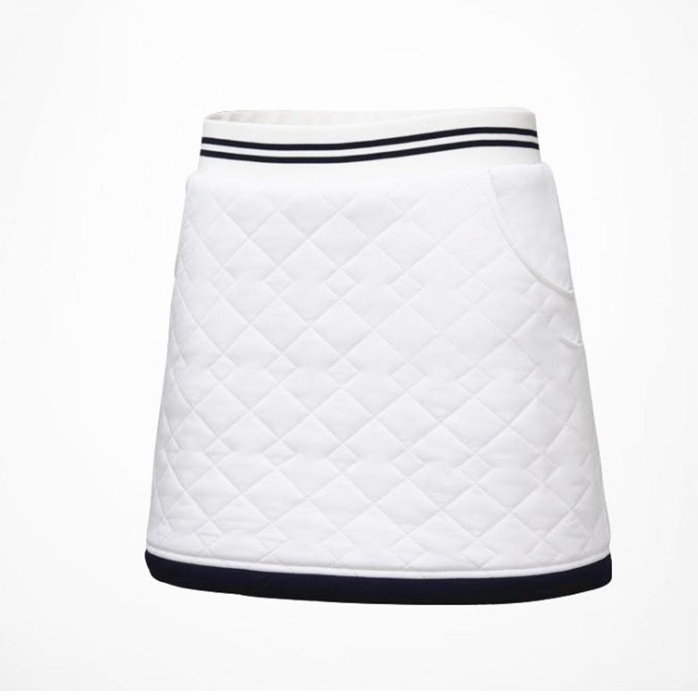 Golf Clothes for Women Vest Thicken Simier Warm Sport Vest Golf Suit Short skirt [white]_M