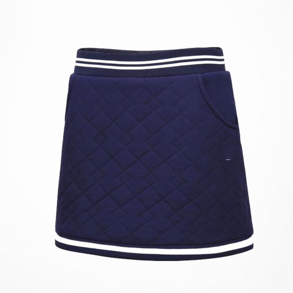 Golf Clothes for Women Vest Thicken Simier Warm Sport Vest Golf Suit Short skirt [navy]_L