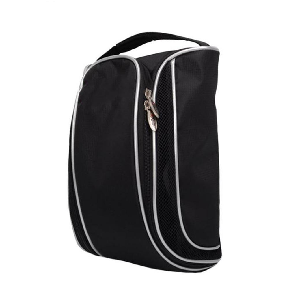 Golf Bag Portable Golf Shoes Bag Breathable Bag with Large Capacity Shoe Bag black