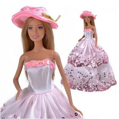 [EU Direct] Yiding Pink Princess Wedding Outfit Party Clothes Chrismas Dress doll