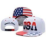 [EU Direct] Urparcel High Quality USA American Flag Snapback Cap Adjustable United States Baseball Cap Hat New