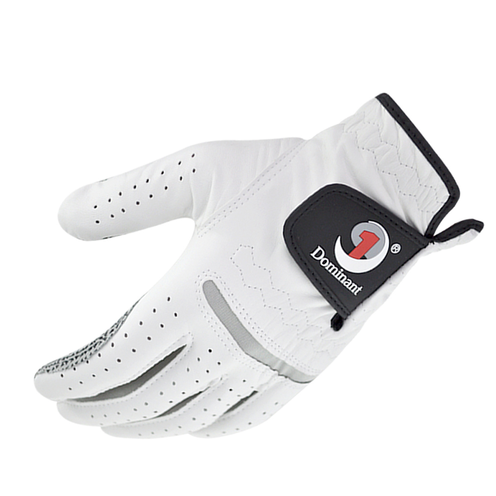 Leather Golf Gloves Men's Left Hand Soft Breathable Pure Sheepskin Golf Gloves Golf Accessories 26#