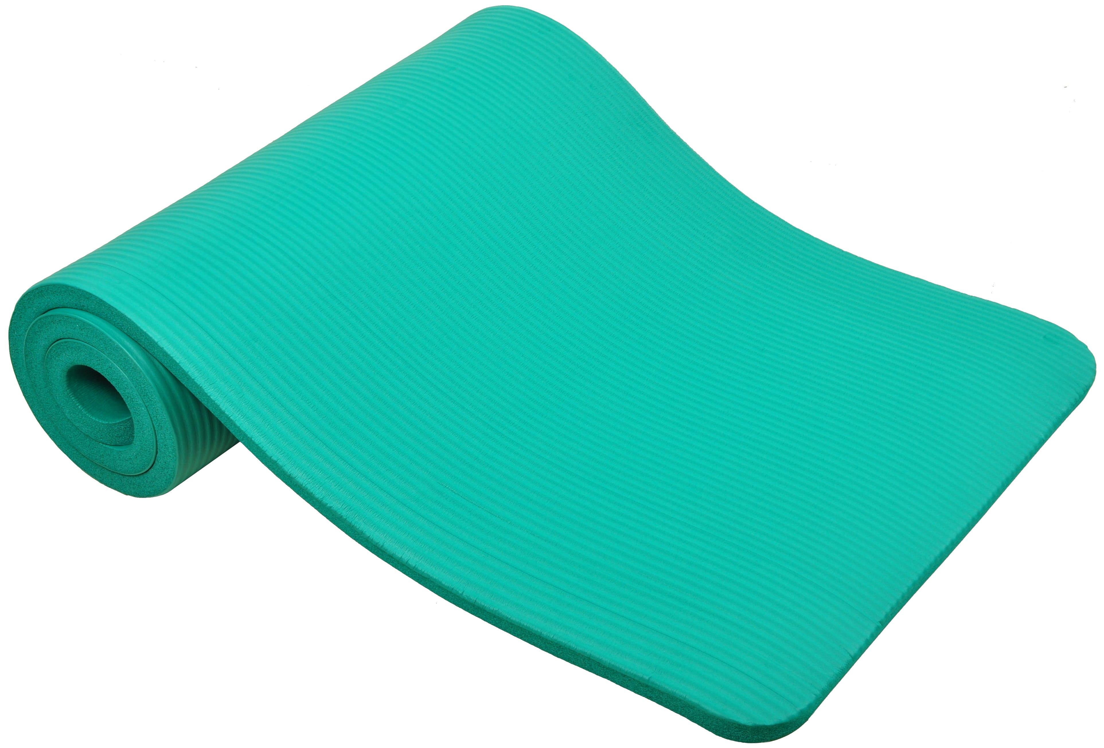 [US Direct] Original BalanceFrom GoCloud All-Purpose 1-Inch Extra Thick High Density Anti-Tear Exercise Yoga Mat with Carrying Strap, Black Green