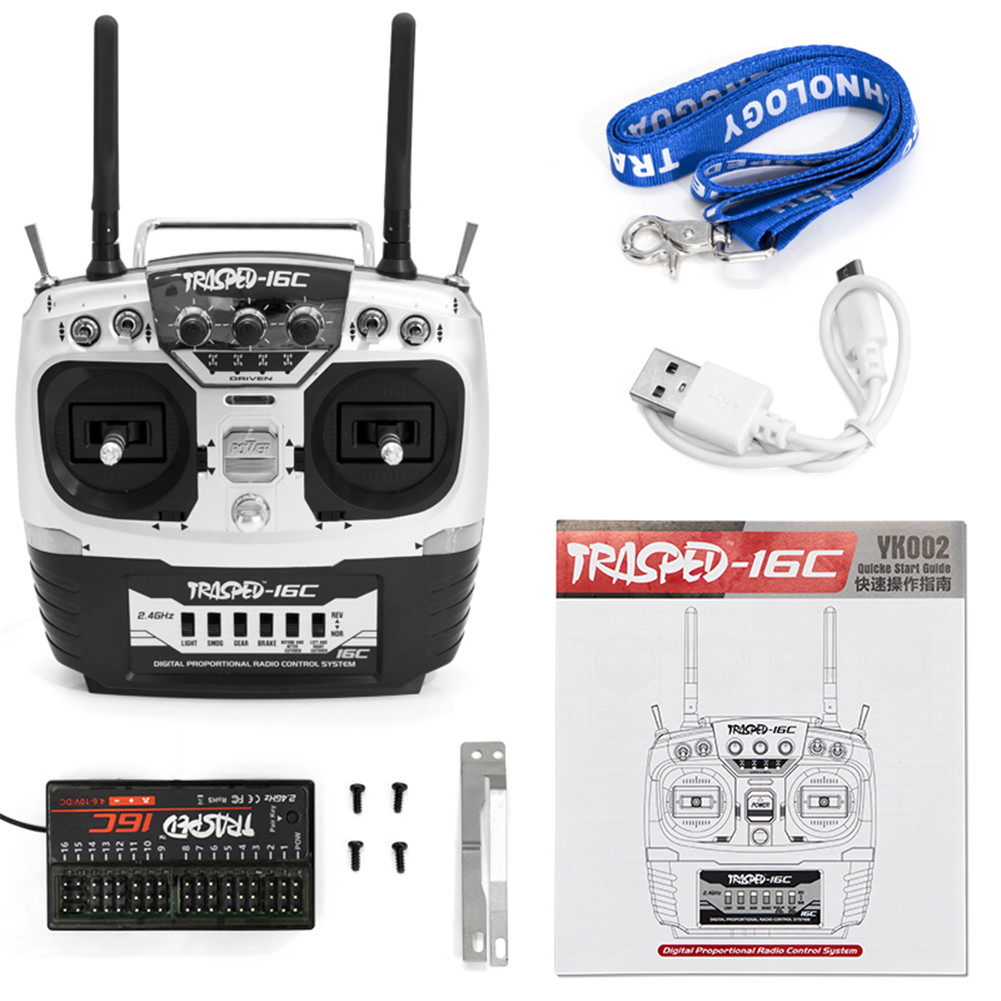 HG P407 P801 P802 Upgraded 2.4G 16CH Remote Control Car Transmitter YK002 as shown