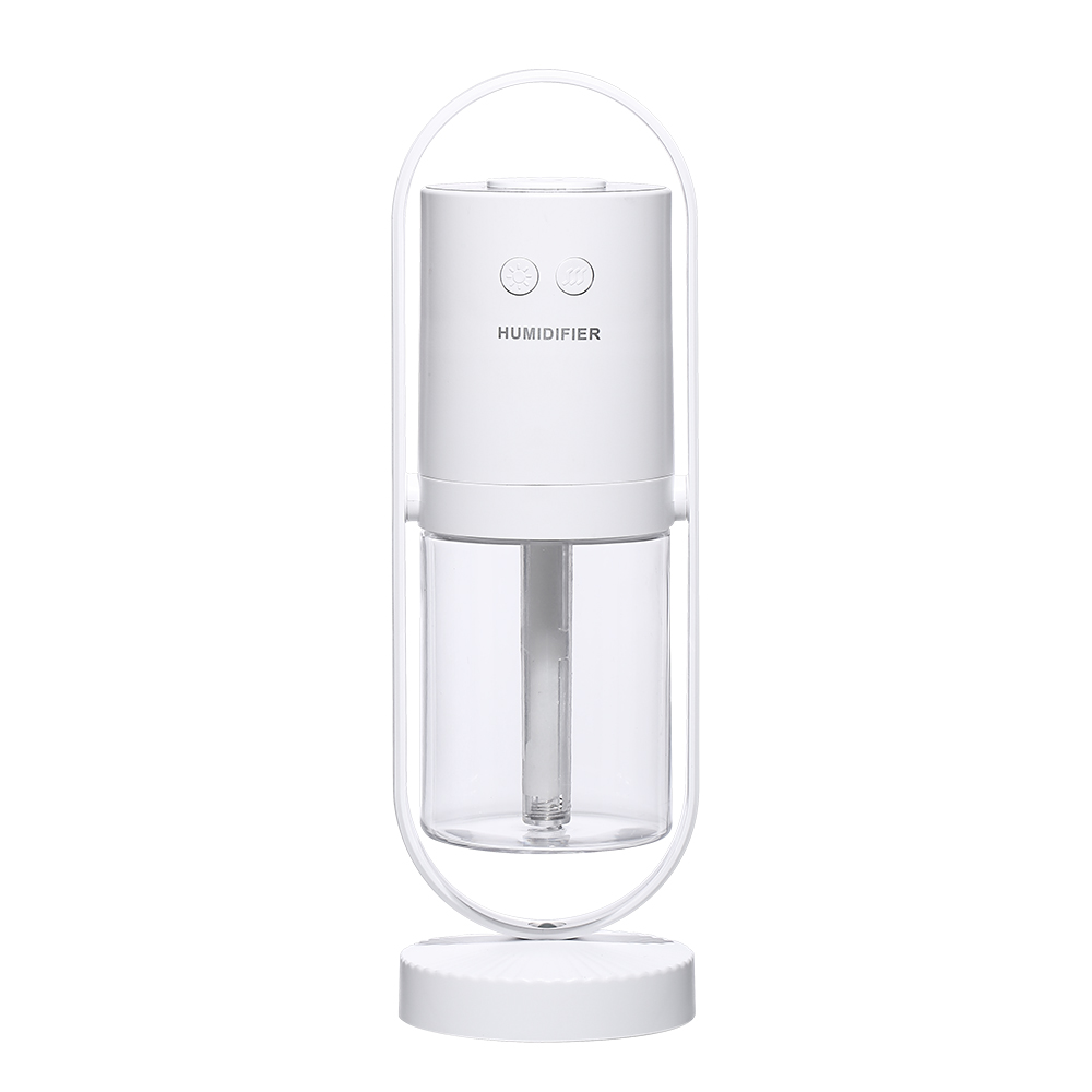 Projection Lantern Desktop Mini Humidifier 360 Degree Rotating Car Humidifier Home Office white