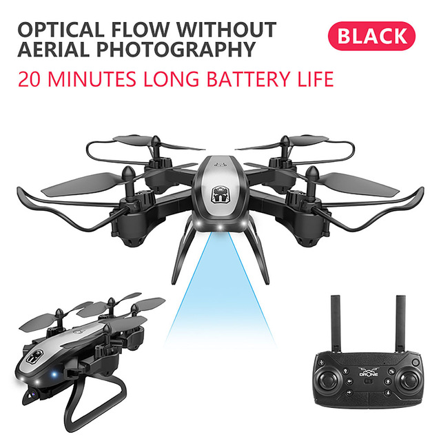 Drone Ky909 Hd 4k Wifi Video Live Fpv Drone Light Flow Keep Height Quad-axis Aircraft One-button Take-off Drone with Box black_Without camera (color box)