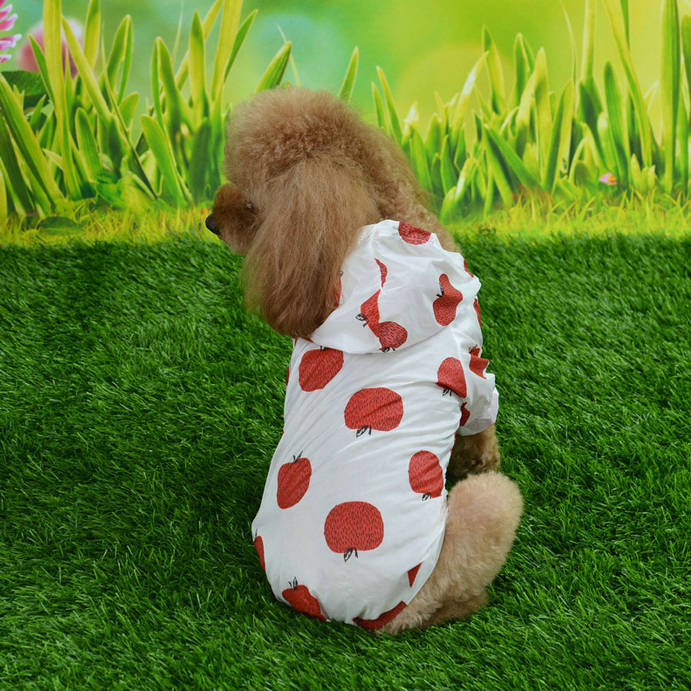 Breathable Cute Pattern Sun-proof Hooded Coat Clothing for Summer Pets Puppy Dogs