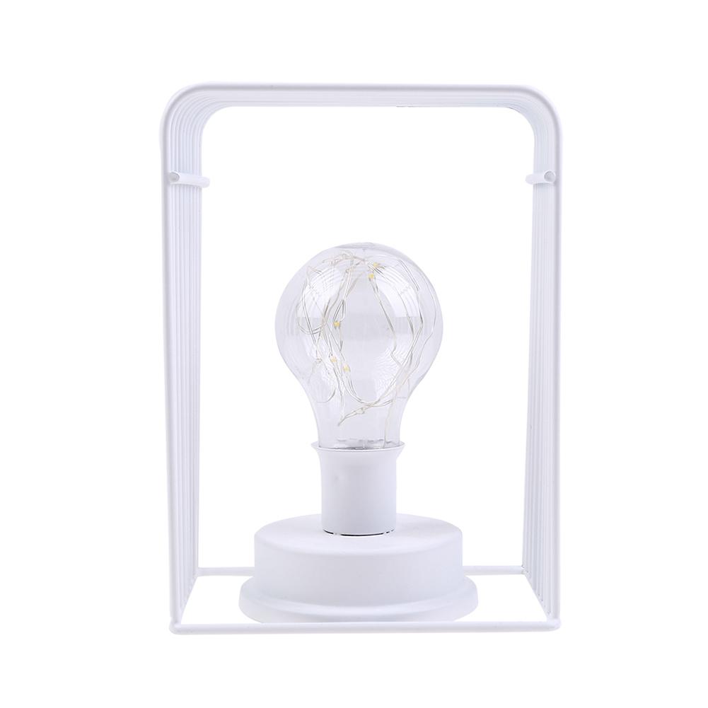 Iron House Shape Bulb LED Copper Wire Decoration Night Light Room Layout Decor Warm White