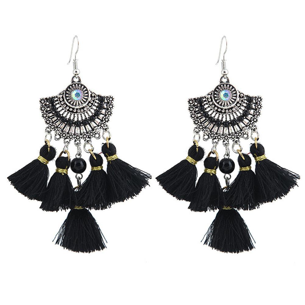 Women Bohemia Style Retro Long Earrings Fashion Tassel Earring Decoration