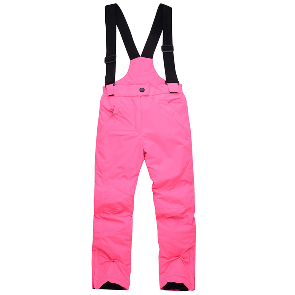 Thicken Windproof Warm Snow Children Trousers Winter Skiing and Snowboard Pants for Boys and Girls Bright powder_L