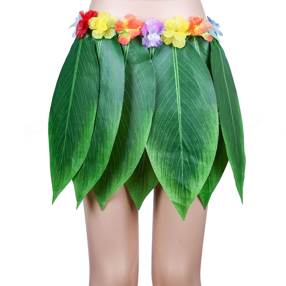 Hawaiian Simulate Leaves Skirt Dancing Props Decoration Beach Party Supplies Child