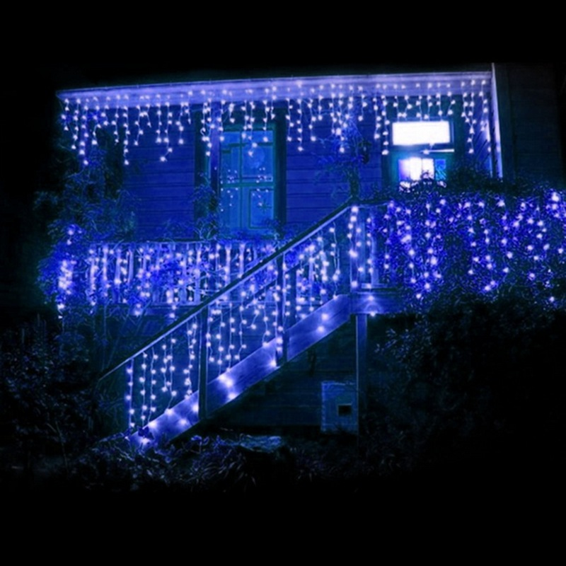 3Mx3M 300 LED Outdoor String Light Curtain Light for Christmas Xmas Wedding Party Home Decoration-US Warm White