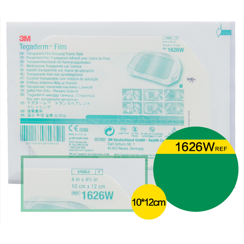 3M Transparent Dressing Breathable Anti Bacteria 1624W Indwelling Needle Stick 1626W 10*12cm