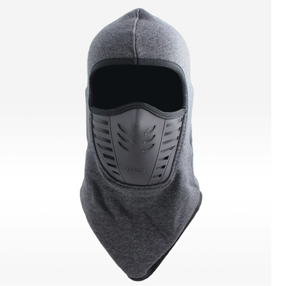 Unisex Bicycle Thermal Winter Warm Hat Windproof Motorcycle Face Mask Hat Neck Helmet Beanies Dark gray_One size