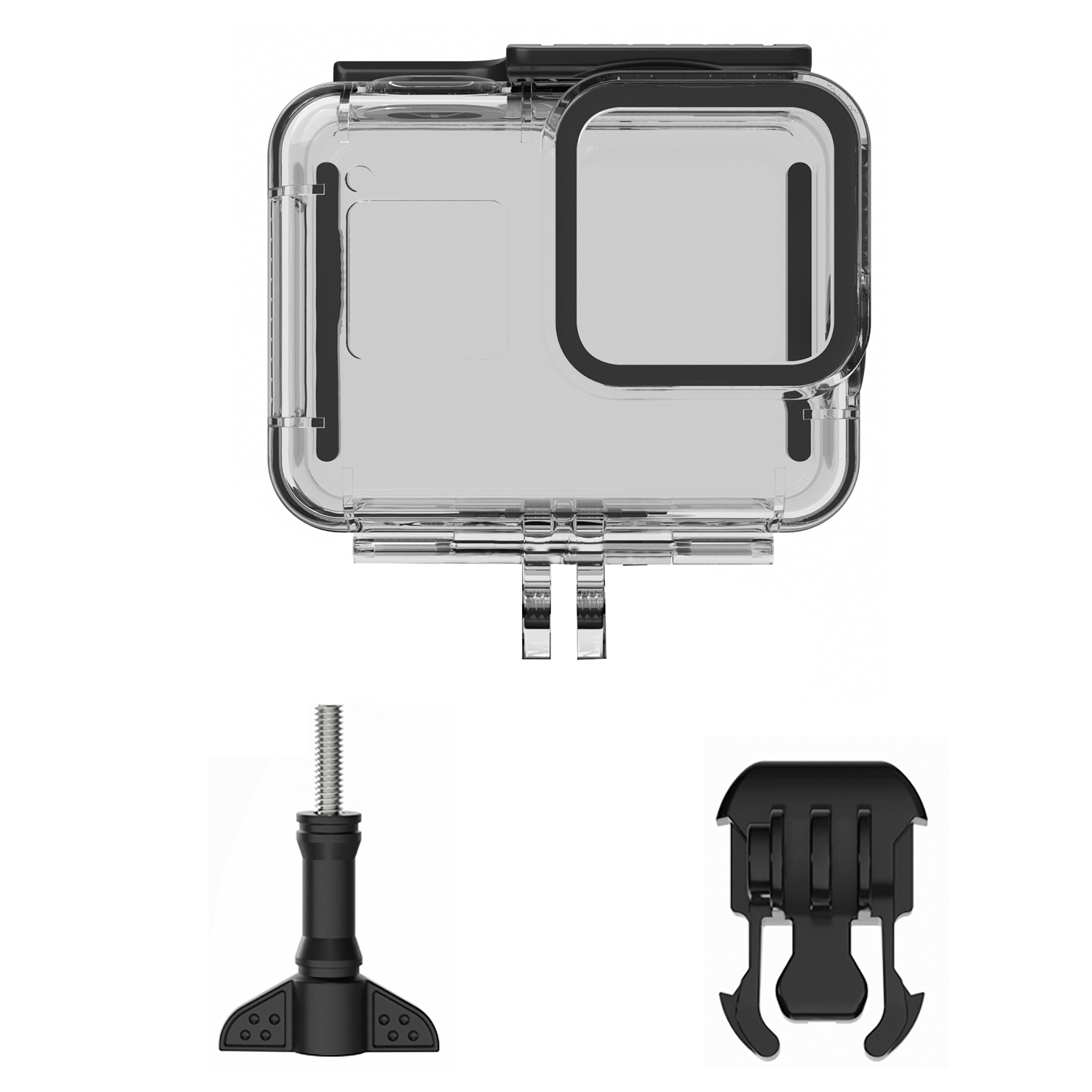 Soft Rubber Key Waterproof Housing Shell For GoPro Hero 8 Black Diving Protection Case Filters for Gopro8 Action Camera  Transparent