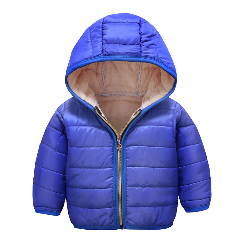 Children Down Overcoat Baby Girls Boys Hood Winter Children Jacket Outerwear blue_130cm