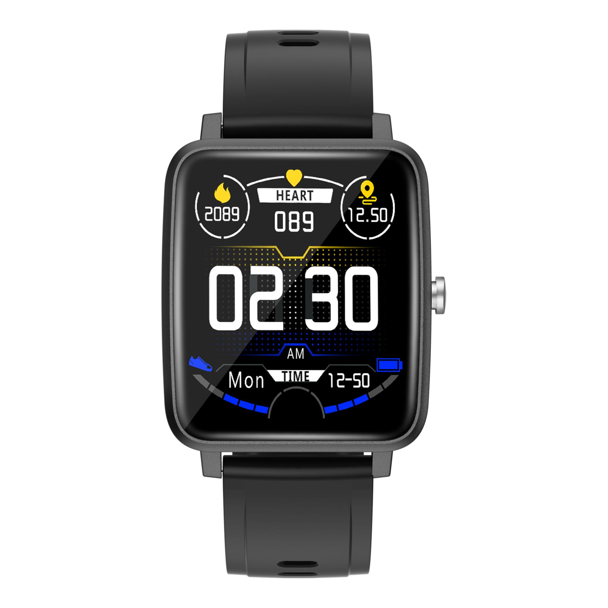V10 Smart Watch Bluetooth Sports Health Wristband Heart Rate Fitness Pedometer Smartwatch Black