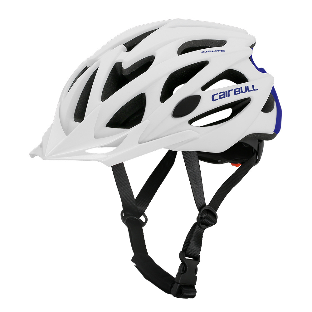 Helmet  With  Sunglasses For Road Bike MTB Outdoor Sports Riding Eps Safety Helmet White blue_m