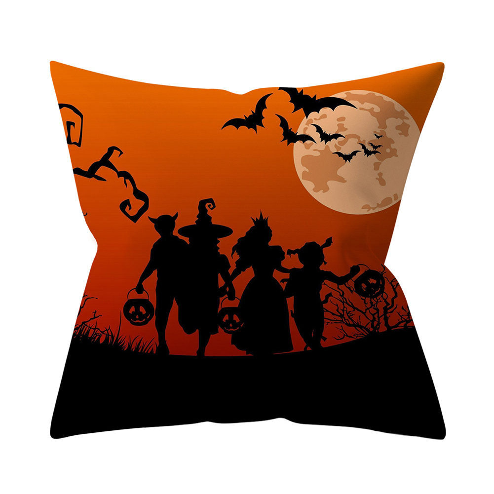 Halloween Series Pattern Throw Pillow Cover for Sofa Living Room Supplies 15#_45*45cm