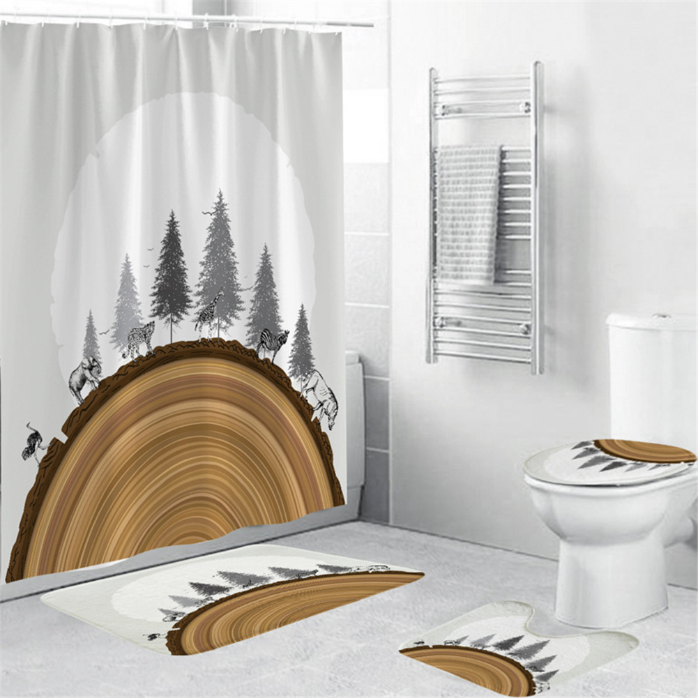 3d Digital Printed Shower  Curtain Waterproof Bath Curtains For Bathroom Bathtub 180*200cm