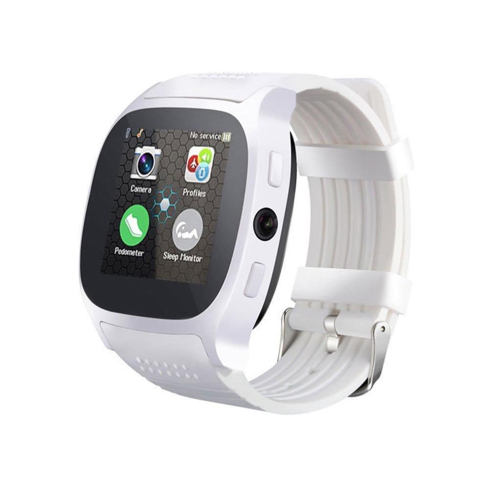 SIMU Sports Timing Watch Smart Bluetooth Electronic Watch SIM Card Watch white