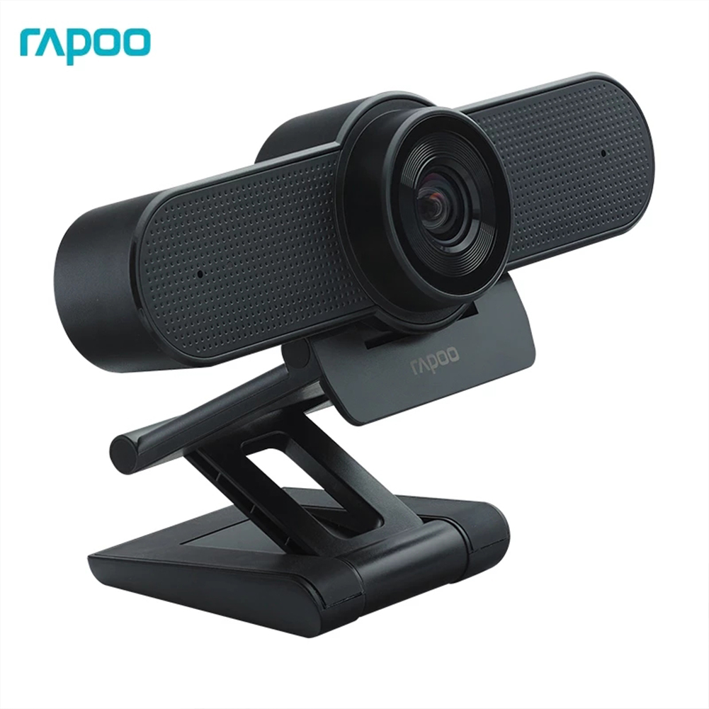 Rapoo C500 Webcam 4K FHD 2160P With Usb2.0 With Mic Adjustable Cameras With Cover For Live Broadcast PC Desktop Black