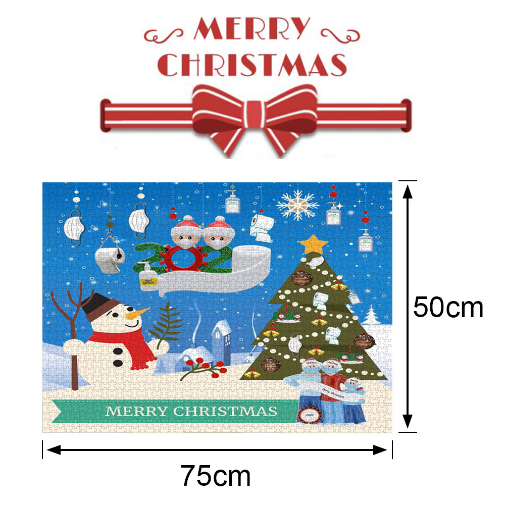 1000 Pieces Paper Mini Puzzle Game Picture Toy for Christmas Adults Children Educational Toys Style 1
