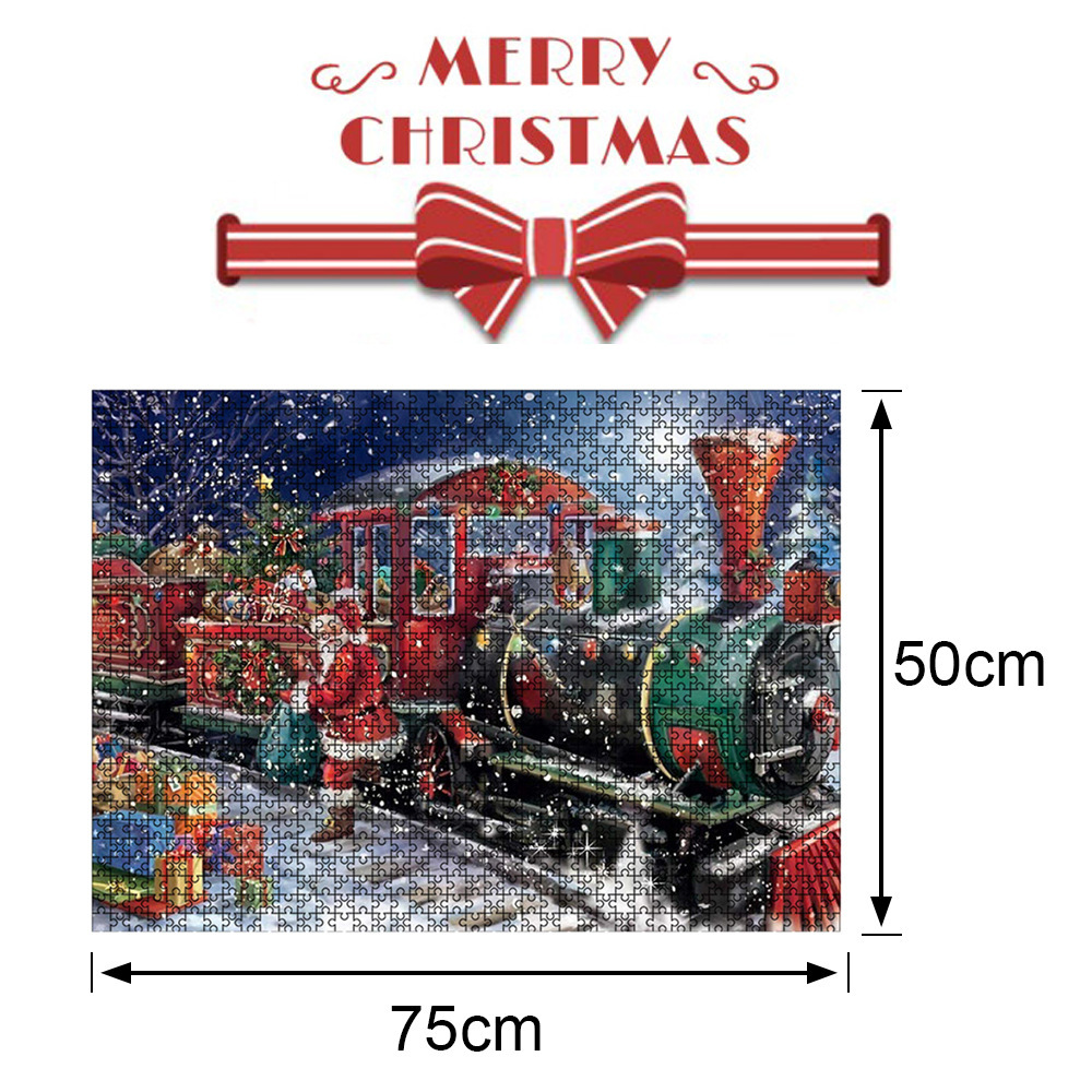 1000 Pieces Paper Mini Puzzle Game Picture Toy for Christmas Adults Children Educational Toys Style 2