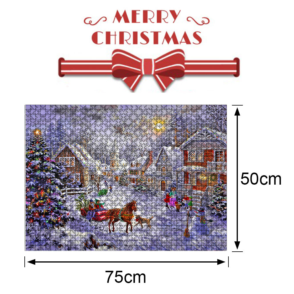 1000 Pieces Paper Mini Puzzle Game Picture Toy for Christmas Adults Children Educational Toys Style 3